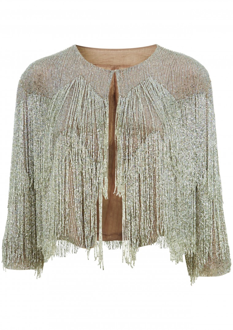 Chandelier silver beaded evening jacket by kate moss topshop 163 225