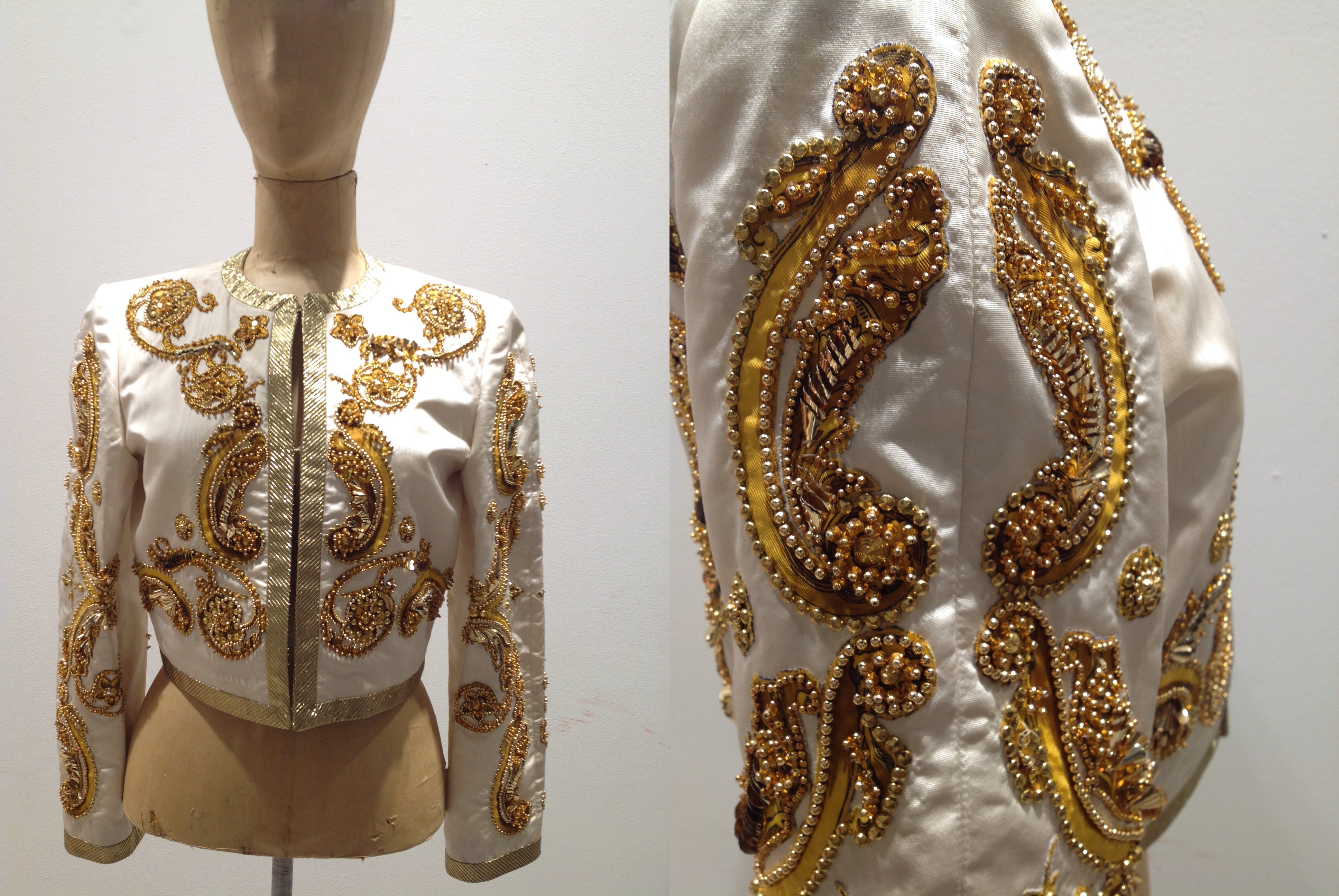 Versace Gold Jacket (and sleeve detailing)