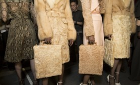 Rave Bags backstage at Givenchy AW14 (via Vogue.com) n.b These fur versions probably won't be available at Selfridges
