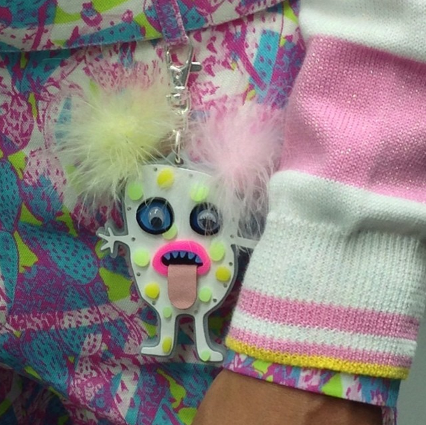 One of the Little Monsters created by Tatty Devine for Kit Neale's SS15 Collection (via @tattydevine on Instagram)