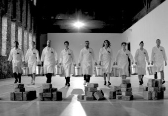 "Marina Abramovic recreates ""Work Relation"" with Adidas"