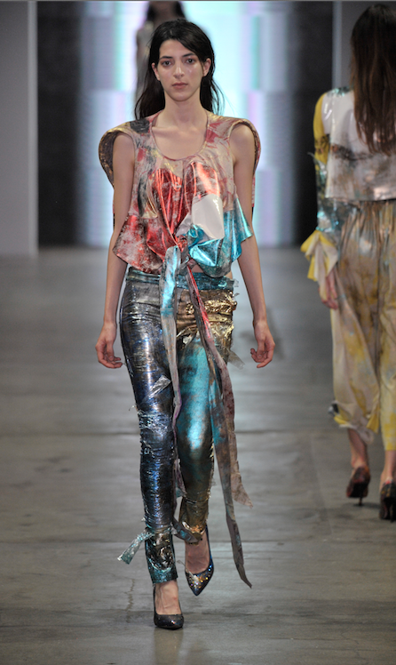 Lucia and Indira's collection on the catwalk