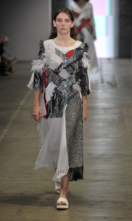 Youna Min's collection on the catwalk