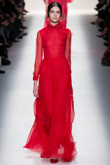 No that there's ever a Valentino show without red. Here's AW14's version