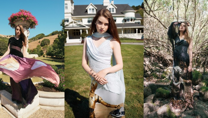 Playing with Rodarte Star Wars dresses at George Lucas's ranch