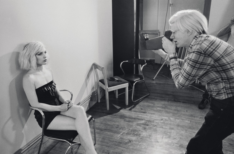 Chris Stein photographs Andy Warhol photographing Debbie Harry (via The Telegraph/Chris Stein)