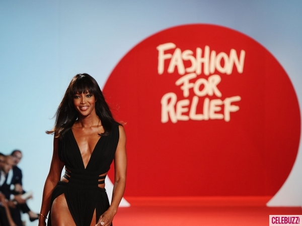 Naomi Campbell at her Fashion For Relief catwalk show in Cannes, 2011